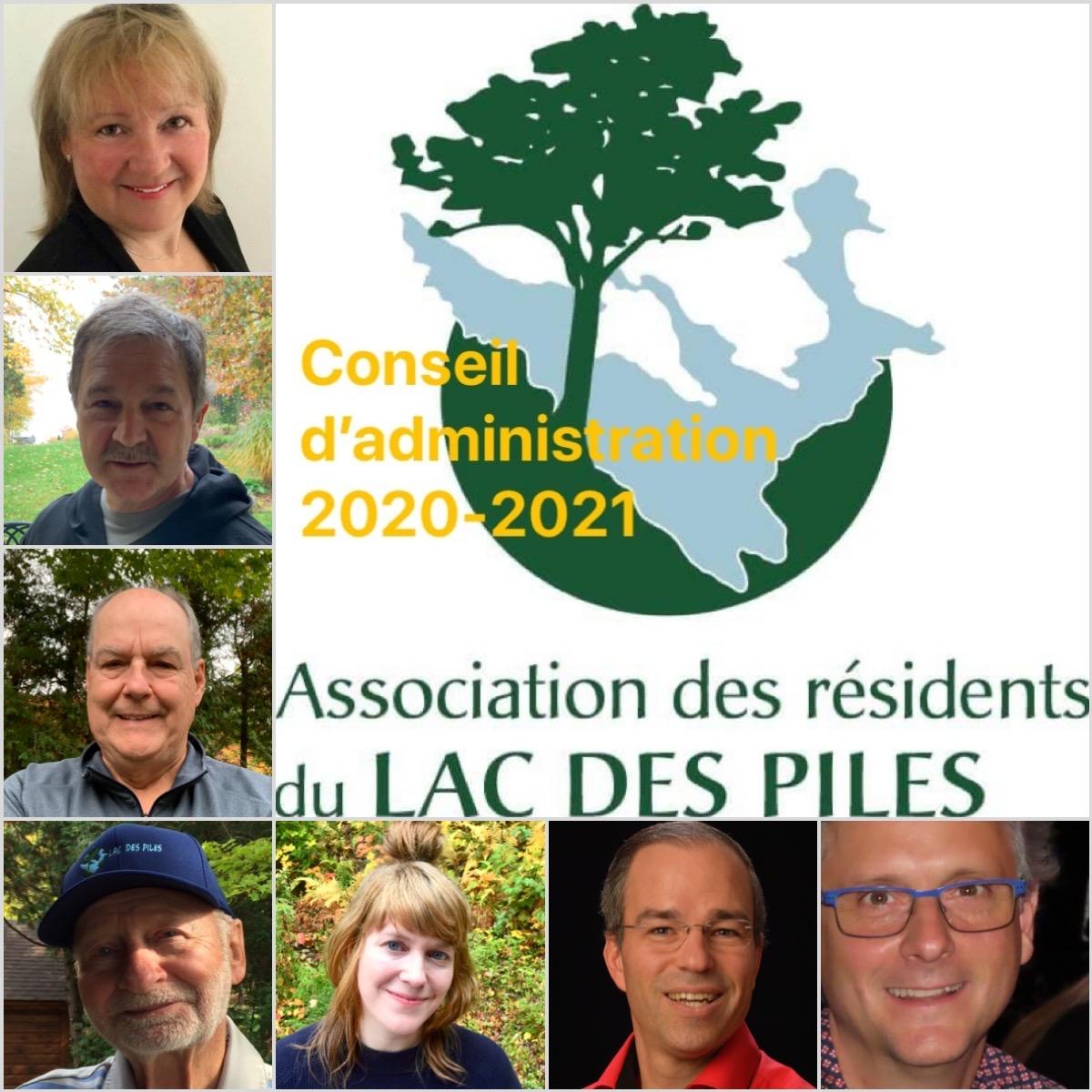 Le conseil d'administration 2020-2021